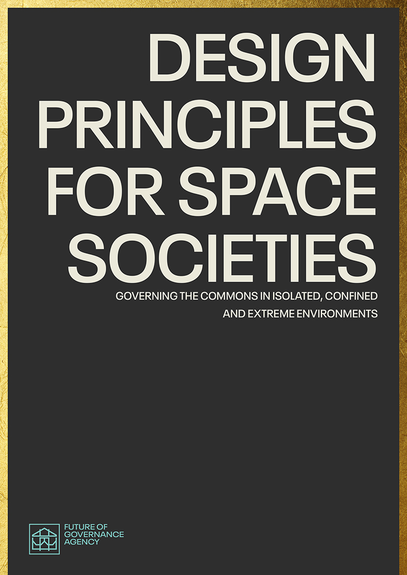 Cover of FOGA report Design Principles for Space Societies